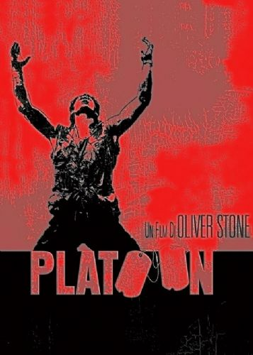 1980's Movie - PLATOON - METALLIC RED canvas print - self adhesive poster - photo print
